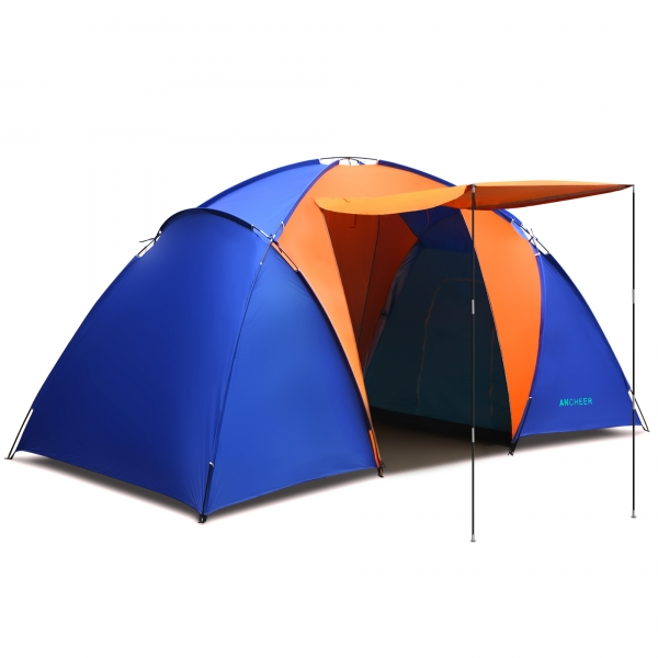 Ancheer Splicing Color 2 Room 6 Person Waterproof Outdoor C&ing Tent Hiking C&ing Portable Family Tent  sc 1 st  Ancheer & AM002923-G.jpg
