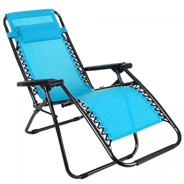 Beach lounge chair portable - Ancheer Folding Zero Gravity Reclining Lounge Portable Garden Beach Camping Outdoor Chair